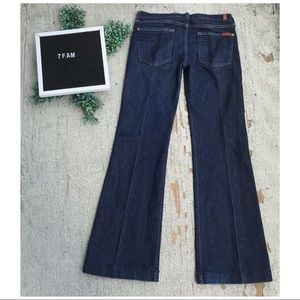 7 For All Mankind Dojo Denim Flare Trousers